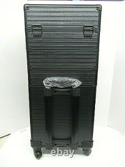 Rolling Train Case 5-in-1 Portable Makeup Train Case Professional Cosmetic case