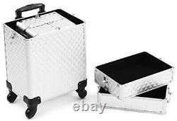 Rolling Train Case Portable Makeup Travel