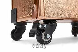 Rolling train case with drawers Makeup rolling train case Cosmetic organizer