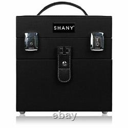 SHANY Color Matters Nail Accessories Organizer and Makeup Train Case Black