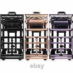 SHANY NUDE REBEL Series Pro Makeup Artists Rolling Clear Cosmetics Train Case