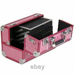 SHANY Premier Fantasy Collection Makeup Artists Cosmetics Train Case Pink d