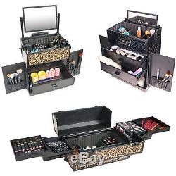 SHANY REBEL Series Pro Makeup Artists Rolling Train Case Trolley Case Sprin