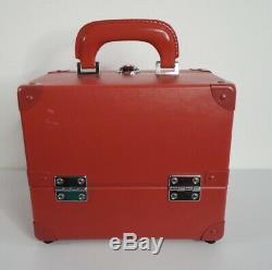SHU UEMURA Makeup Train Case RARE RED Professional Organizer JAPAN Box Travel