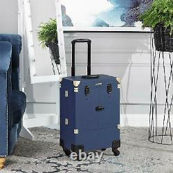 SONGMICS Luggage Suitcase Makeup, Case Cosmetics With 4 Wheels, Professional