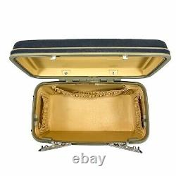 Samsonite Silhouette 2 Blue Vintage Train Case Carry-On Hard Makeup Case & Tray