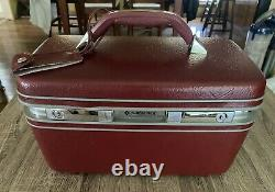 Samsung Profile 2 Make Up Train Case With Keys And Tray! Vintage