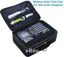 Samtour Travel Makeup Train Case Makeup Organizer Portable Cosmetic Case With