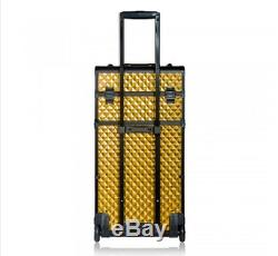 Shany Makeup Artist Rolling Train Case with Mirror (REBEL Series Pro)