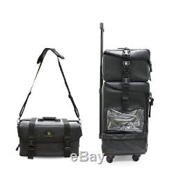 Soft Leather 2 in 1 Makeup Trolley Case Cosmetic Organiser Train Case Beauty Box