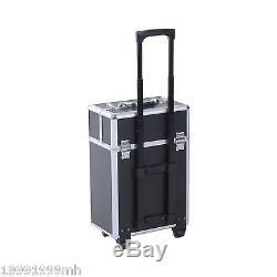 8299e5aa4bd3 Soozier Rolling Makeup Case Train Cosmetic Jewelry Organizer with ...