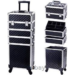 Stagiant Rolling Makeup Train Case Large Storage Cosmetic Trolley 4 in 1 Large