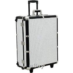 Sunrise Professional Makeup Artist Train Case with Lights and Lock, Large
