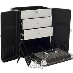 Sunrise Train Cases 4 1 Rolling Makeup Artist Trolley Travel Cosmetic Beauty