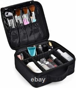 Travel Makeup Case Professional Cosmetic Train Cases Artist Storage M1, Black