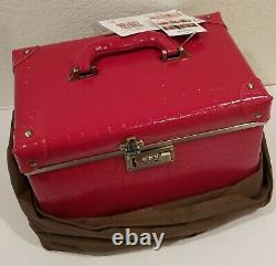 Urecity Portable Makeup Leather Train Case with Combination Lock