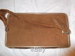 VINTAGE HARTMANN LUGGAGE OVERNIGHT TRAIN CASE MAKEUP Buck Brown Suede Leather
