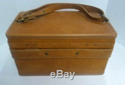 VINTAGE HARTMANN LUGGAGE OVERNIGHT TRAIN CASE MAKEUP Leather