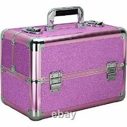 Ver Beauty 4-tiers Extendable Trays Professional Cosmetic Makeup Train Case O