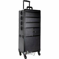 Ver Beauty 5-in-1 professional rolling cosmetic makeup artist train case orga