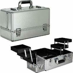 Ver beauty 6-tiers accordion trays professional cosmetic makeup train case or