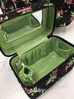 Vera Bradley New Hope XL Vera Tote & Choo Choo Train Travel Cosmetic Case NWT