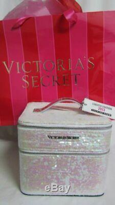 Victoria's Secret 2013 Fashion Show Sequined train cosmetic case NWT & gift bag