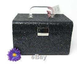 Victoria's Secret Black Glitterati Fashion Show Sparkle Train Case, Perfect Gift