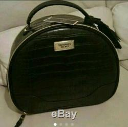 Victoria's Secret Cosmetic Train Make Up Case Black Limited Edition Rare NWT