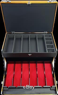 Vincent Master Rolling Clipper -Trimmer Case for Barbers (GOLD) VT10145-GD