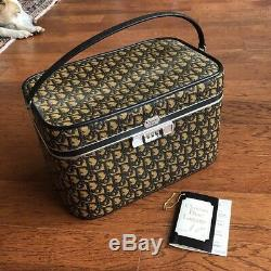 Vintage 1970s Christian Dior Monogram Train Case Deadstock With Tags Luggage