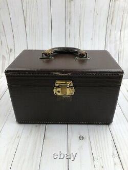 Vintage Antique Luce Luggae Train Case Makeup Travel
