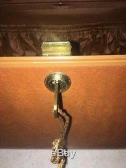 Vintage Brown SAMSONITE LUGGAGE SHWAYDER BROS Travel Train Toiletry Makeup case