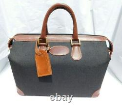 Vintage FRENCH COOMPANY Canvas Luggage Cosmetic Train Case Overnight Bag