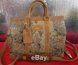 Vintage FRENCH Luggage Co Paradise Cosmetic Train Case Bag