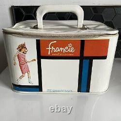 Vintage Francie Train Case Travel MOD Mirror 1965 Mattel Makeup Barbie Cousin