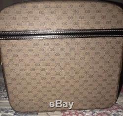Vintage Gucci Classic Monogram Makeup Cosmetic Travel Train Vanity Hard Case Bag