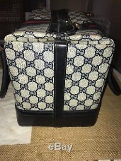Vintage Gucci Train Case Doctor Bag Makeup case Hand bag Excellent condition