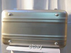 Vintage Halliburton Make Up Cosmetic Train Case Silver Aluminum with Mirror