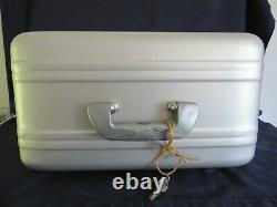Vintage Halliburton Pre-Zero Cosmetics Train Case Aluminum WithMirror & Keys