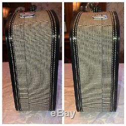 Vintage Hartmann Custom Luggage Hard Train Case Carry On Cosmetic Black EUC Rare
