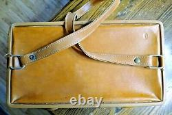 Vintage Hartmann Luggage Train Case / Cosmetics / Carryon Tan Leather Must See