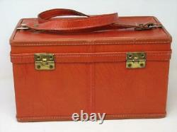 Vintage Hartmann Luggage Travel Train Case with Key and Cosmetic Bag LOVELY