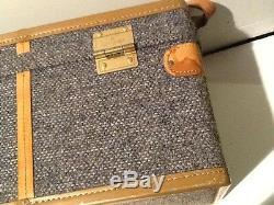 Vintage Hartmann Train case cosmetic case Belting Leather combination