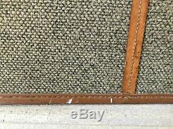 Vintage Hartmann Tweed Leather Train Case Cosmetics Lockable Bag