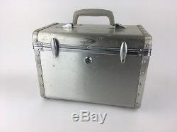 Vintage KOWA Travel Trunk Aluminum Cosmetic Train Case Machine Age