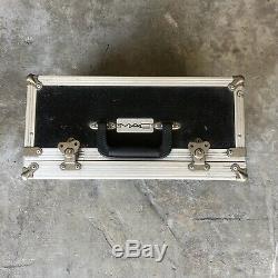 Vintage MAC Cosmetics Black Metal Makeup Train Case Carrier Box 90s RARE