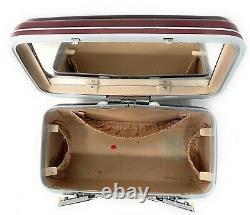 Vintage Maroon/ BurgSamsonite Silhouette Train Case with Original Tray Makeup