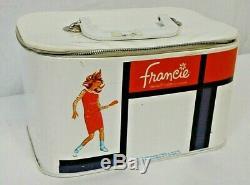 Vintage Mattel 1965 Barbies MODern Cousin Francie Travel Make-Up Train Case