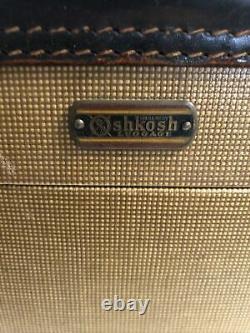 Vintage Oshkosh Train Case Makeup Travel Suitcase Luggage 1940s 1950s Antique